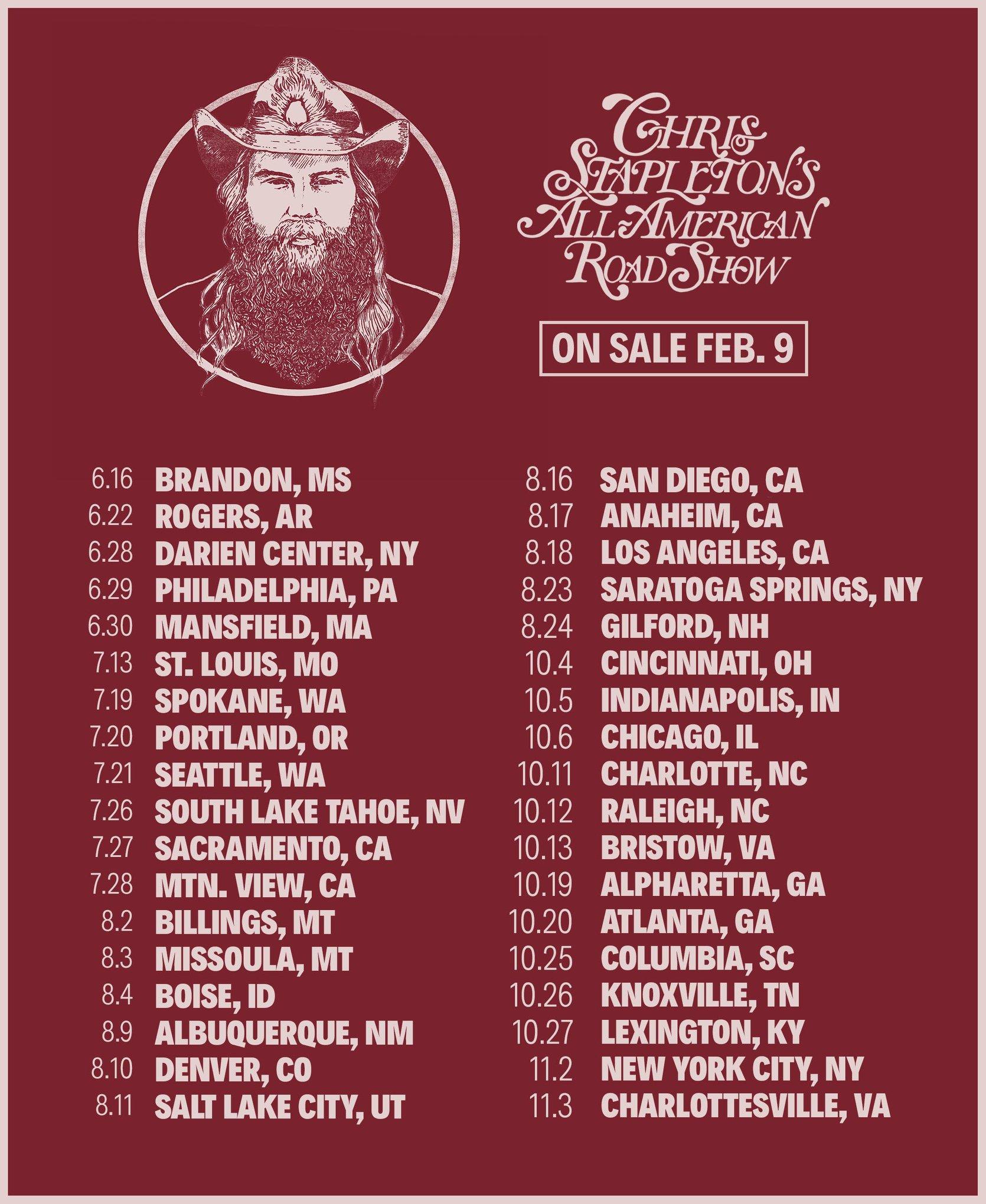Stapleton Follows Up Huge Grammy Night With 2018 Tour